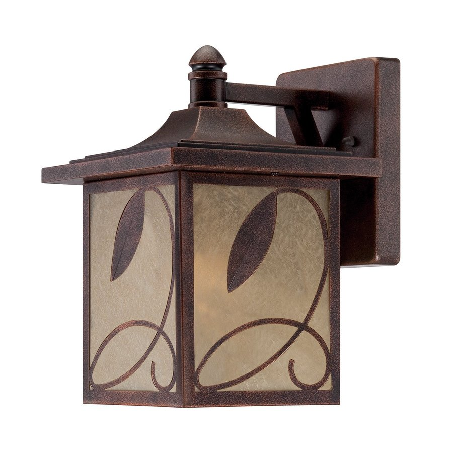 Designer's Fountain Devonwood 12.75-in H Flemish Copper Outdoor Wall Light