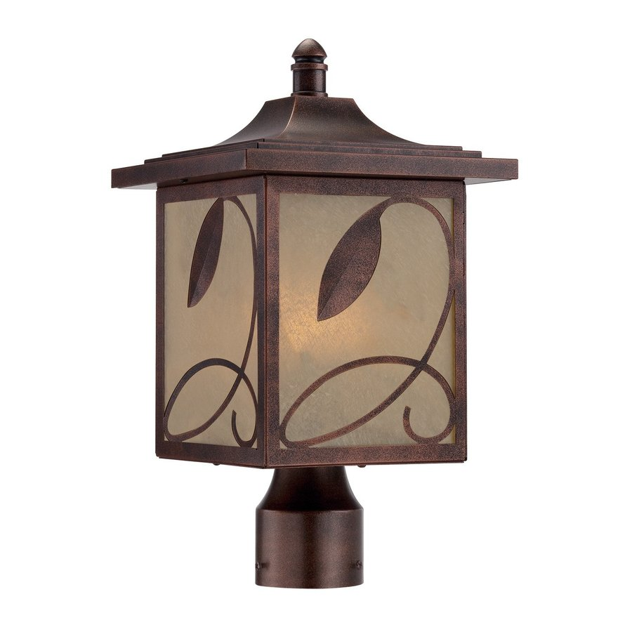 Designer's Fountain Devonwood 15.5-in H Flemish Copper Post Light