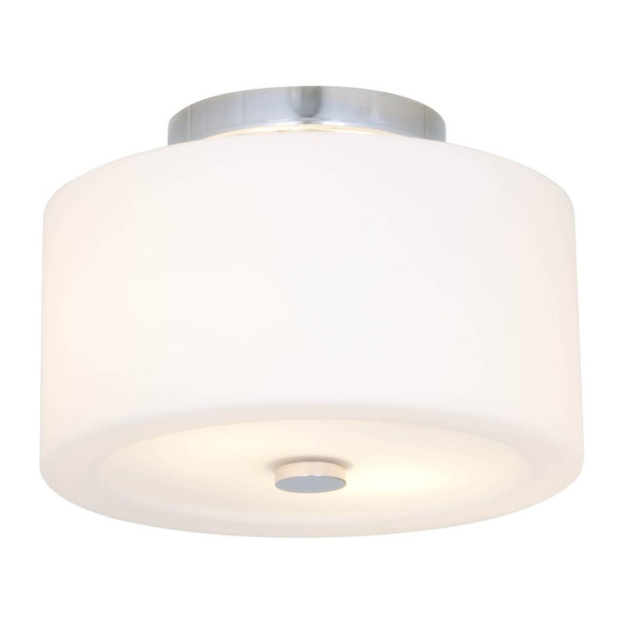 DVI Luna 12-in W Chrome Opalescent Glass Semi-Flush Mount Light