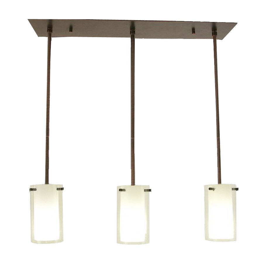 Shop DVI Essex 26 In W 3 Light Oil Rubbed Bronze Kitchen Island Light With Wh