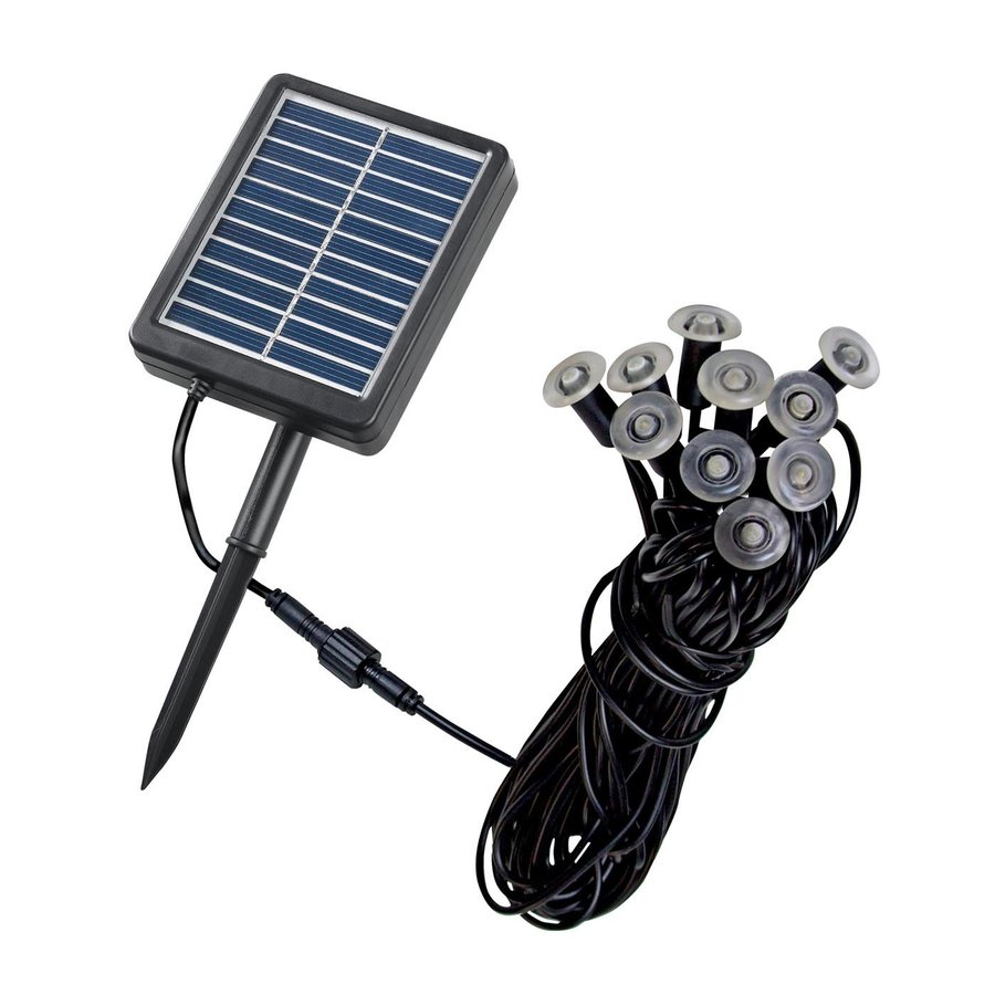 Shop Kenroy Home 10 Light Black Solar 0 07 Watt Led Path