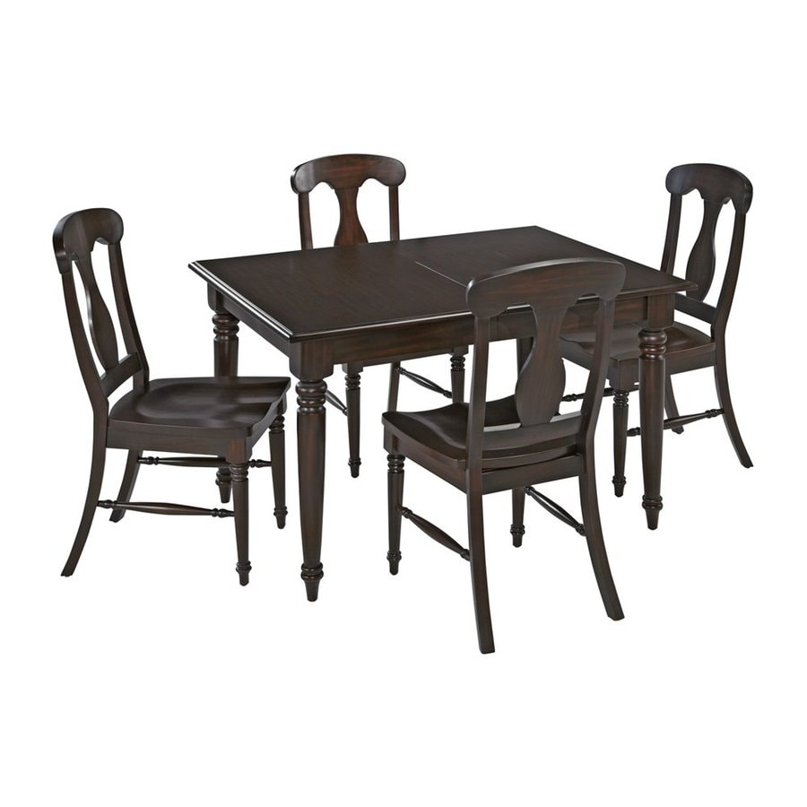 Shop Home Styles 5 Piece Bermuda Espresso Dining Set at  : 50271481 from www.lowes.com size 900 x 900 jpeg 60kB