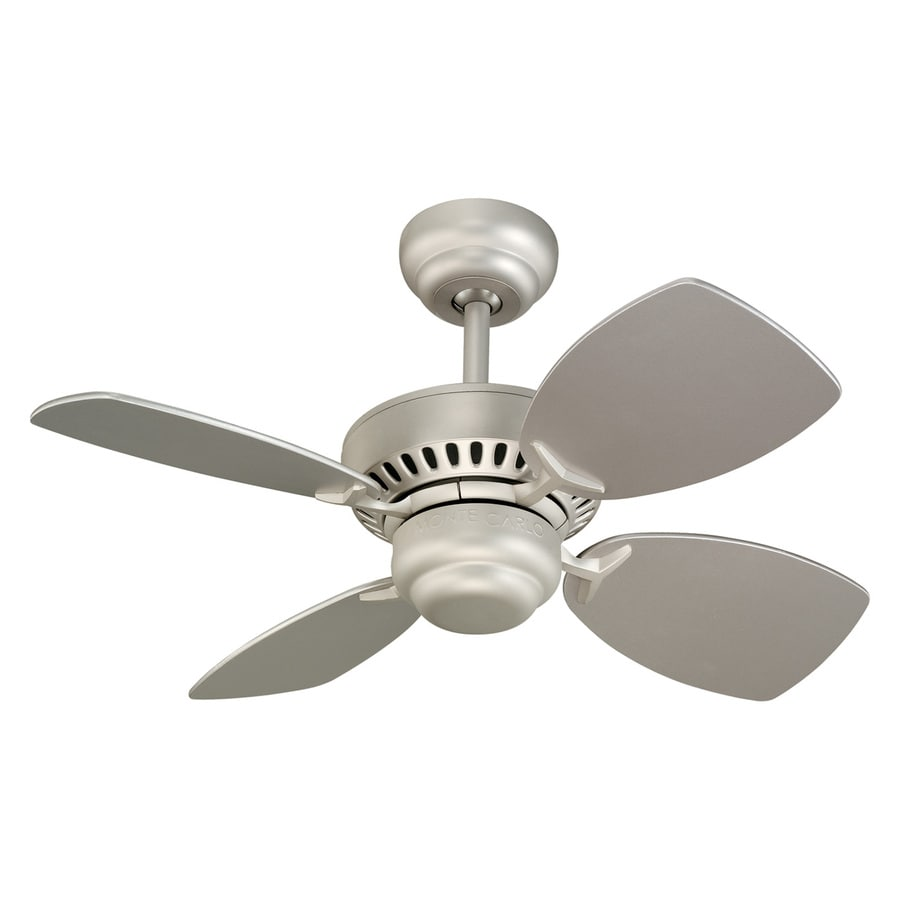 Monte Carlo Fan Company Colony Ii 28-in Brushed Pewter Downrod or Close Mount Indoor Ceiling Fan (4-Blade)