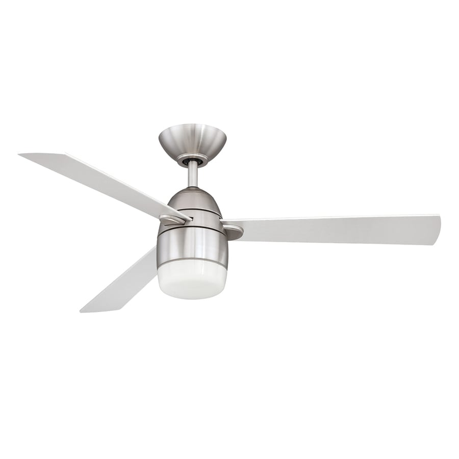 Kendal Lighting Antron 42-in Satin Nickel Downrod Mount Indoor Ceiling Fan with Light Kit and Remote (3-Blade)