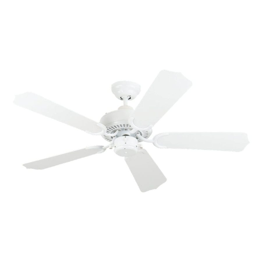 Sea Gull Lighting 42-in White Downrod or Close Mount Indoor/Outdoor Ceiling Fan (5-Blade)