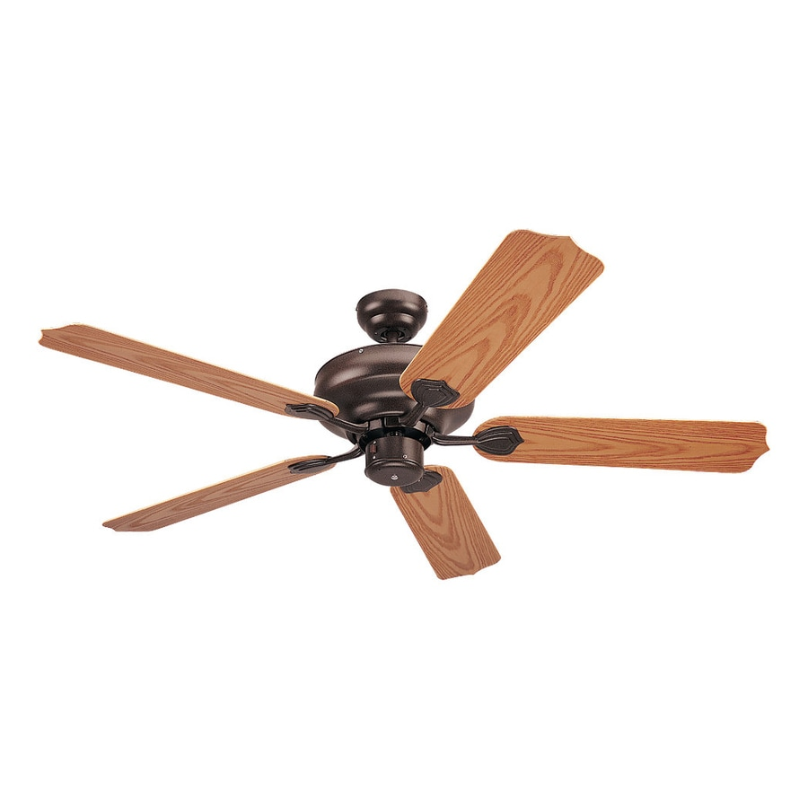 Sea Gull Lighting Long Beach 52-in Bronze Downrod or Close Mount Indoor/Outdoor Ceiling Fan (5-Blade) ENERGY STAR