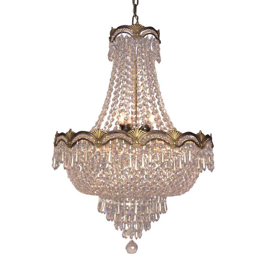 Classic Lighting Regency Ii 21-in 8-Light Roman Bronze Crystal Empire Chandelier