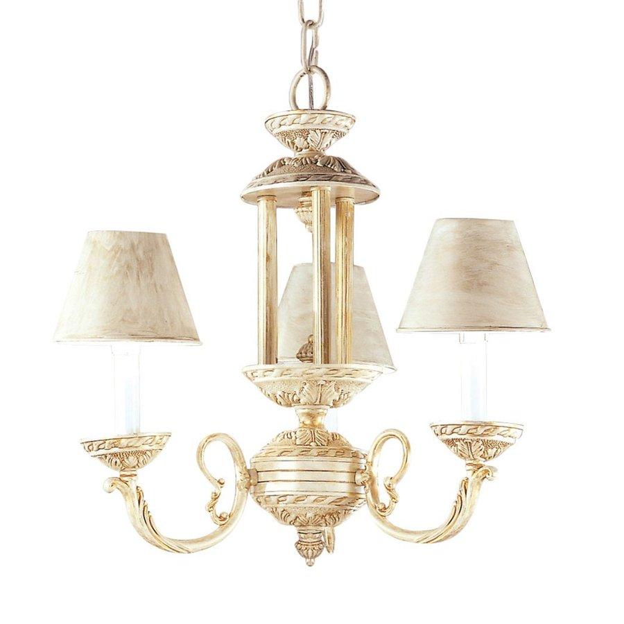 Classic Lighting Innsbrook 15-in 3-Light Ivory Gold Vintage Shaded Chandelier