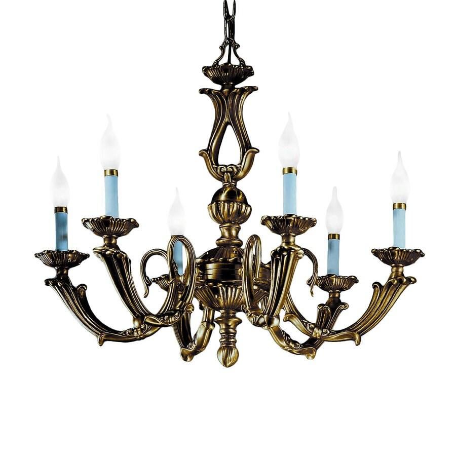 Classic Lighting Alexandria Iii 23-in 6-Light Victorian Bronze Vintage Candle Chandelier