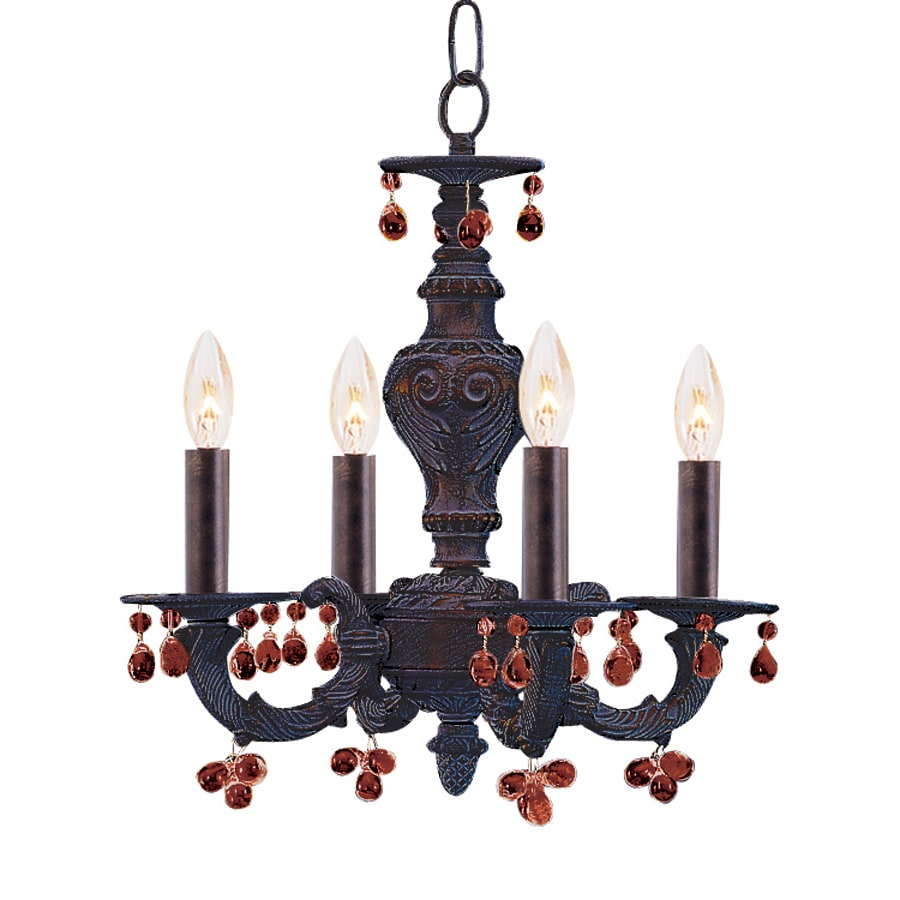 Cascadia Lighting 4-Light Venetian Bronze Crystal Accent Chandelier