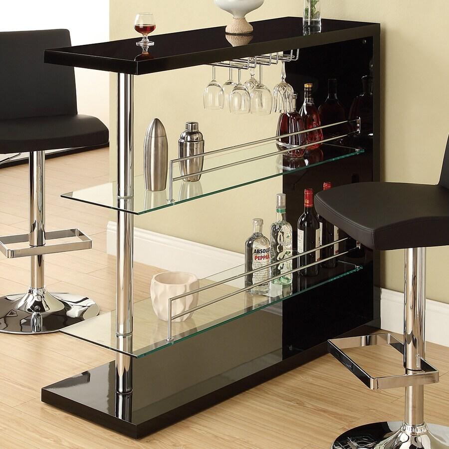 Coaster Fine Furniture 15.75-in x 44-in Rectangle Mini Bar