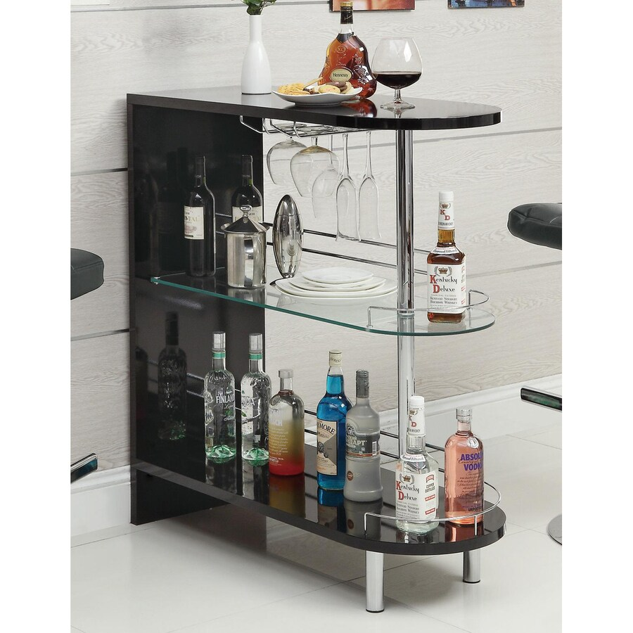 Coaster Fine Furniture 39.25-in x 41-in Oval Mini Bar