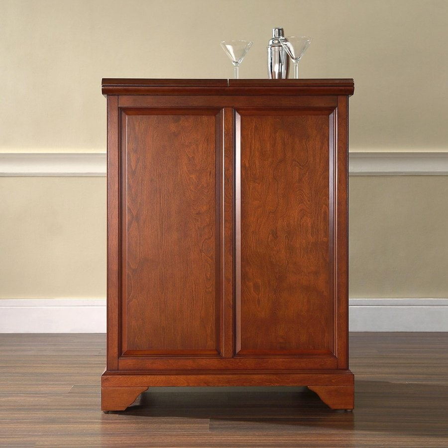 Shop Crosley Furniture Lafayette X 42 In Rubberwood Rectangle Cabinet Bar At