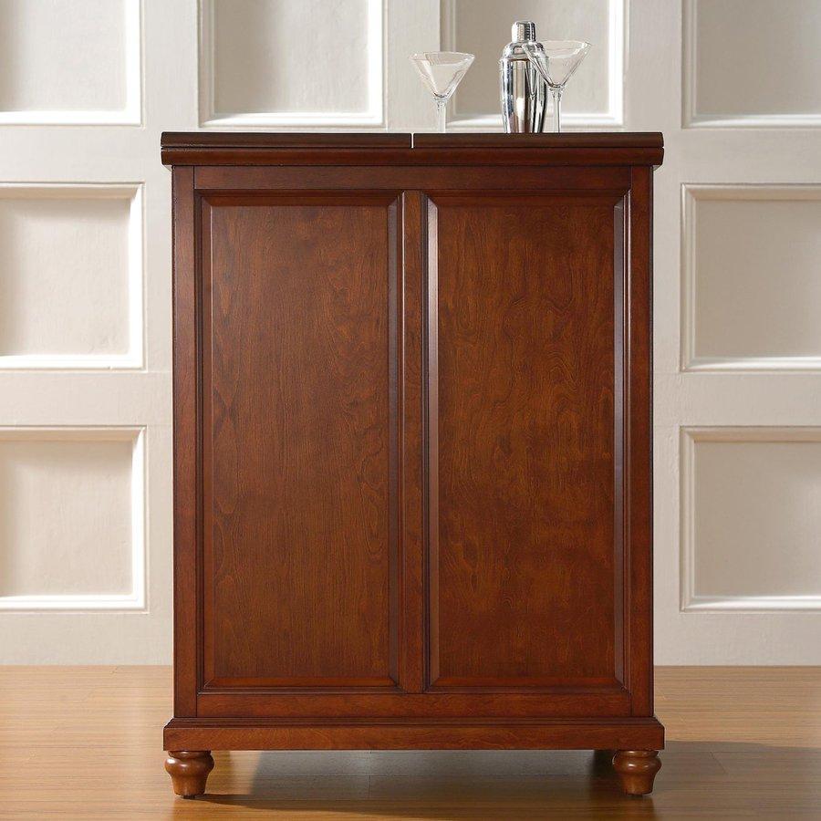 Crosley Furniture Cambridge 31.25-in x 42-in Rubberwood Rectangle Cabinet Bar