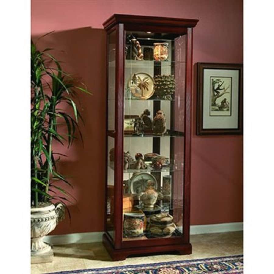 Pulaski Victorian Cherry Rectangular Curio Cabinet