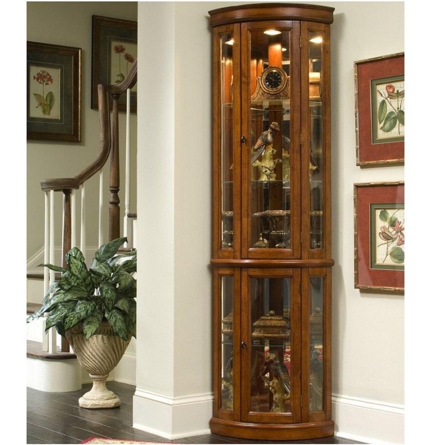 Shop pulaski edwardian ii corner curio cabinet at for Curio cabinet