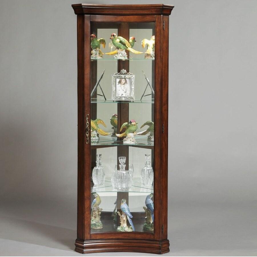 Shop Pulaski Gallery Corner Curio Cabinet at Lowes.com