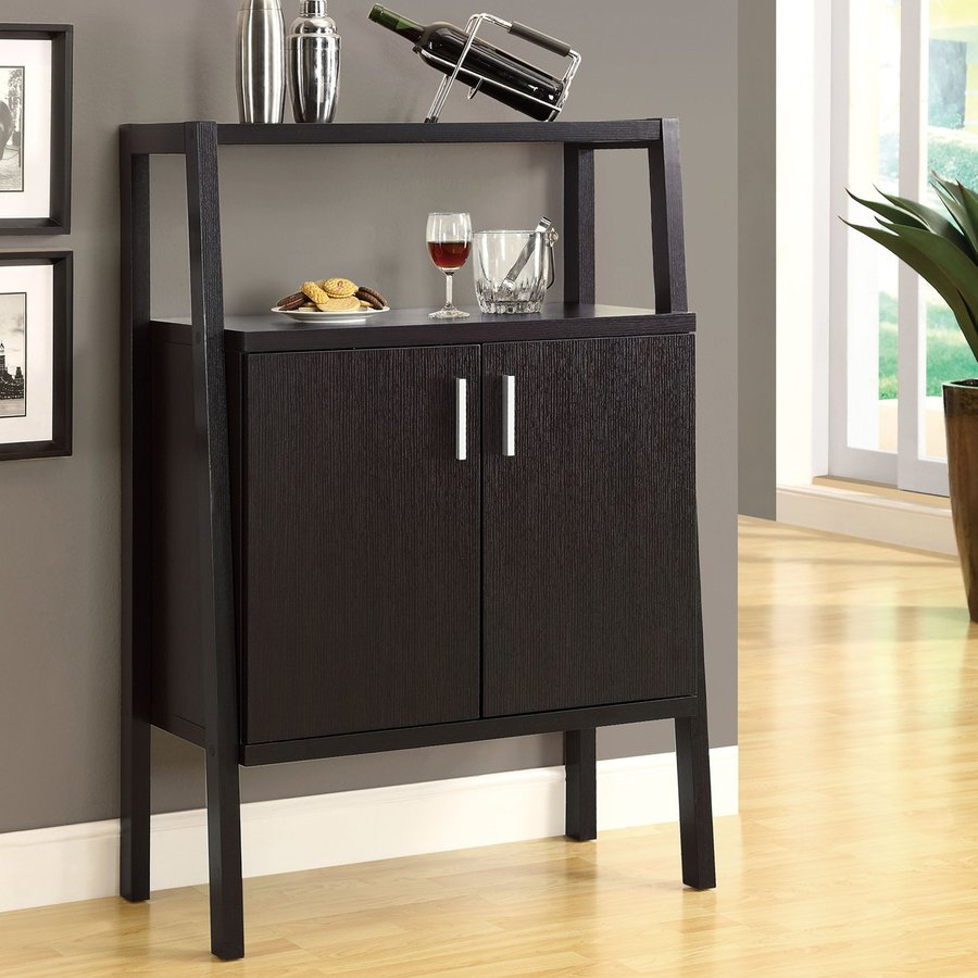 Monarch Specialties 32-in x 47.25-in Rectangle Cabinet Bar