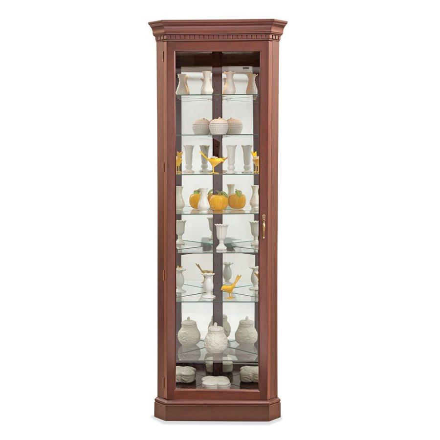 Philip-Reinisch Company Lighthouse Candlelight Cherry Corner Curio Cabinet