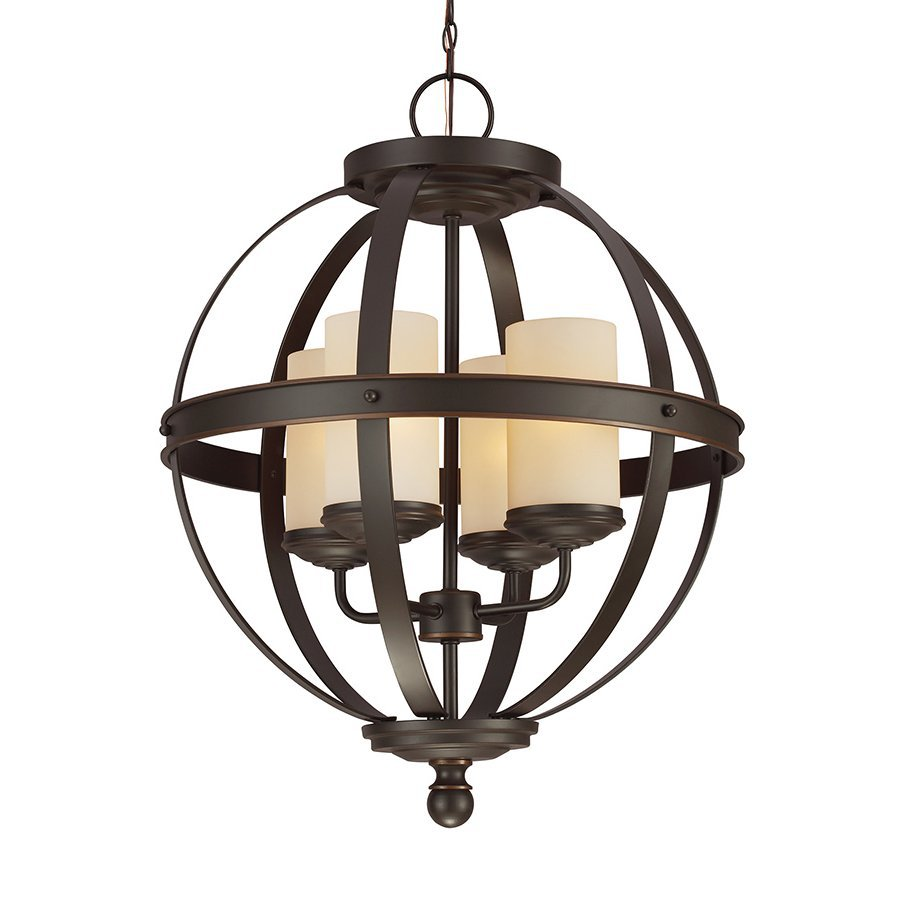 Sea Gull Lighting Sfera 18.5-in Autumn Bronze Wrought Iron Single Orb Pendant