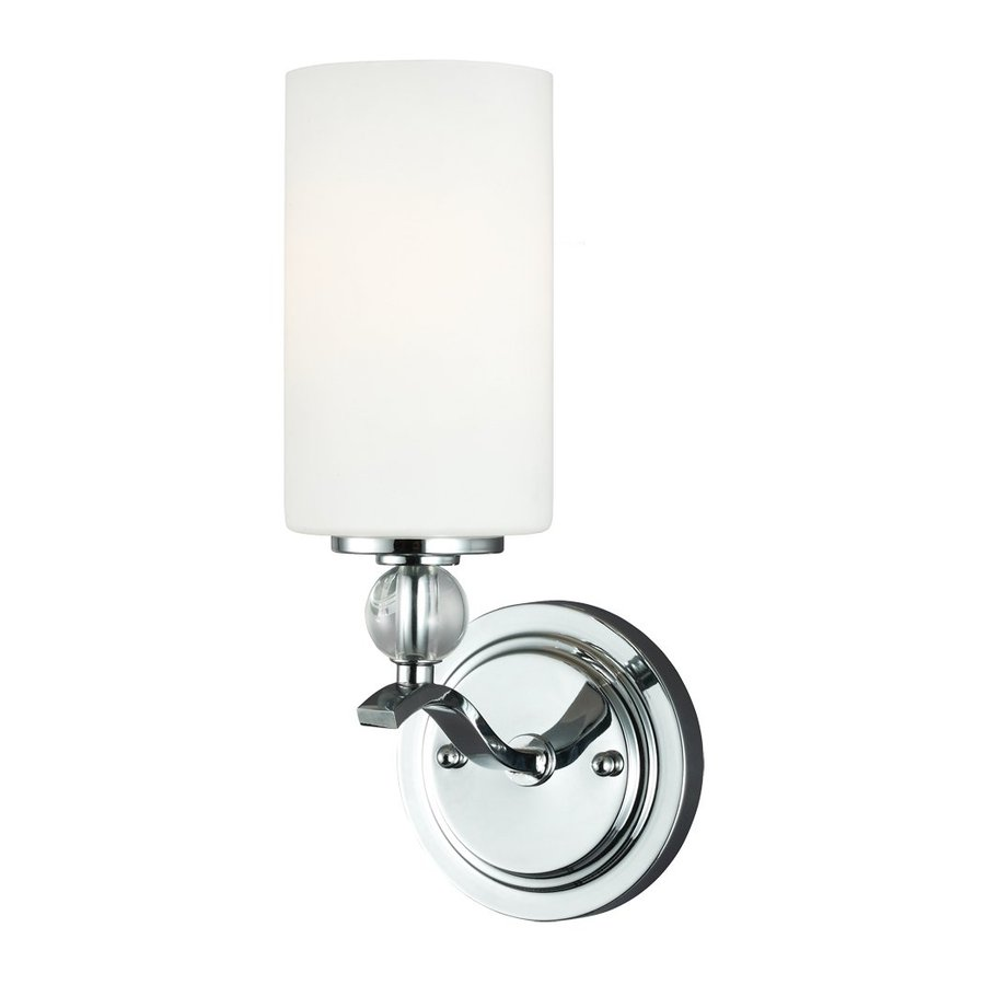 Sea Gull Lighting 1-Light Englehorn Chrome Bathroom Vanity Light