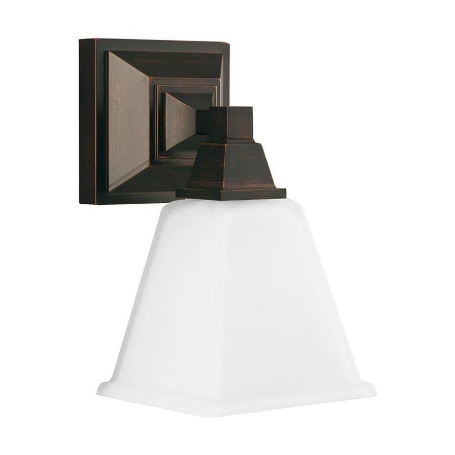 Sea Gull Lighting 1-Light Denhelm Burnt Sienna Bathroom Vanity Light