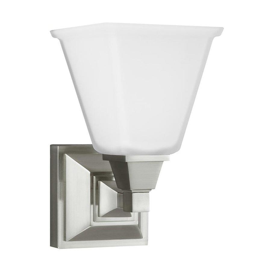 Sea Gull Lighting 1-Light Denhelm Brushed Nickel Bathroom Vanity Light