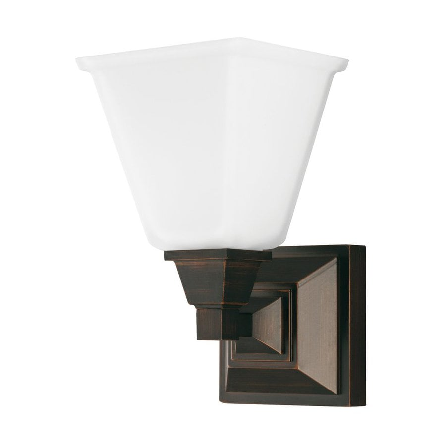 Sea Gull Lighting 1-Light Denhelm Burnt Sienna Bathroom Vanity Light