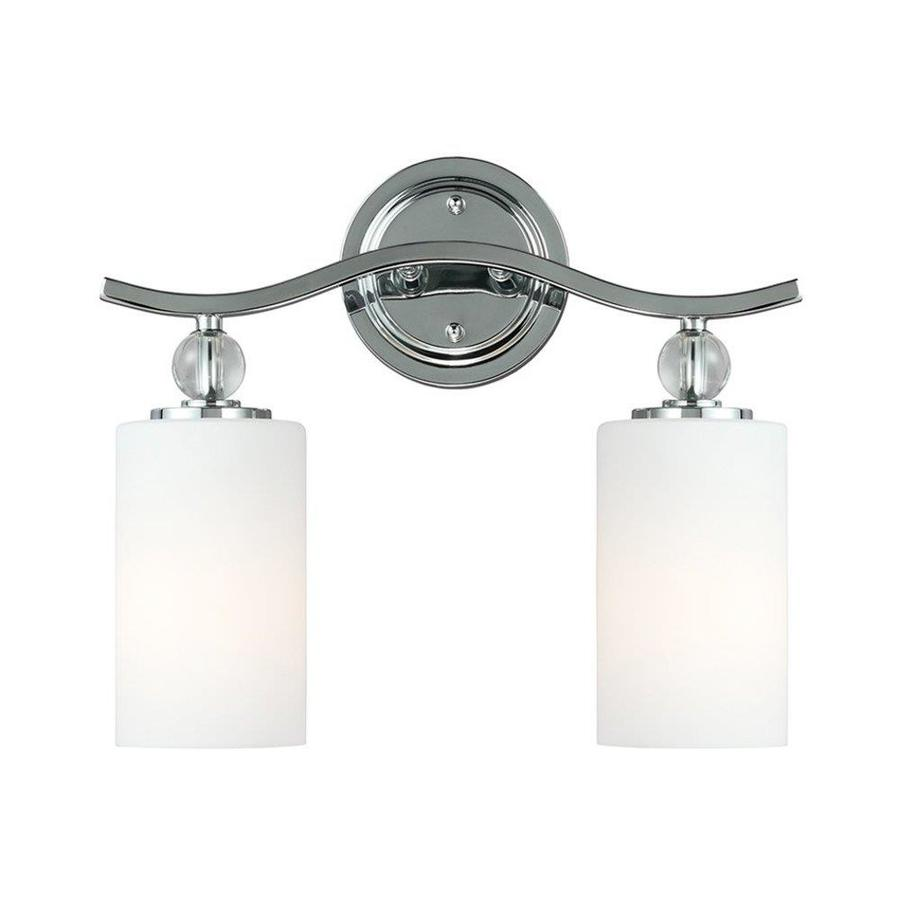 Vanity Lights In Chrome : Shop Sea Gull Lighting 2-Light Englehorn Chrome Bathroom Vanity Light at Lowes.com