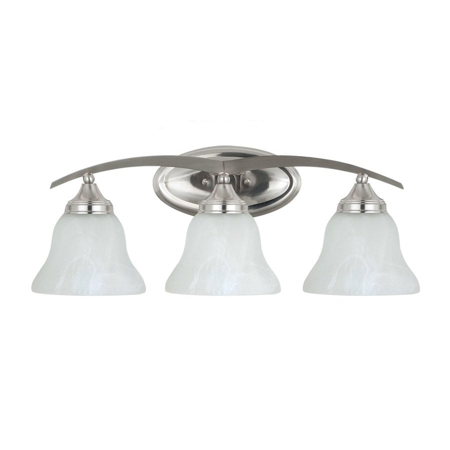 Sea Gull Lighting 3-Light Brockton Brushed Nickel Bathroom Vanity Light