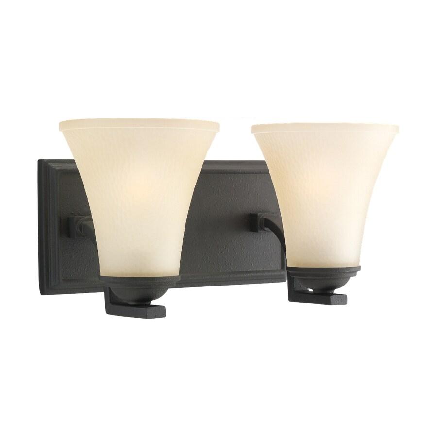 Sea Gull Lighting 2-Light Somerton Blacksmith Bathroom Vanity Light