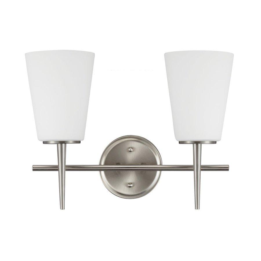 Sea Gull Lighting 2-Light Driscoll Brushed Nickel Bathroom Vanity Light