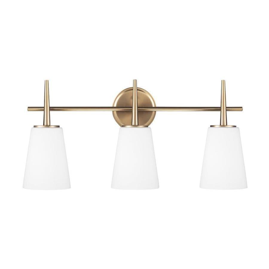 Sea Gull Lighting 3-Light Driscoll Satin Bronze Bathroom Vanity Light