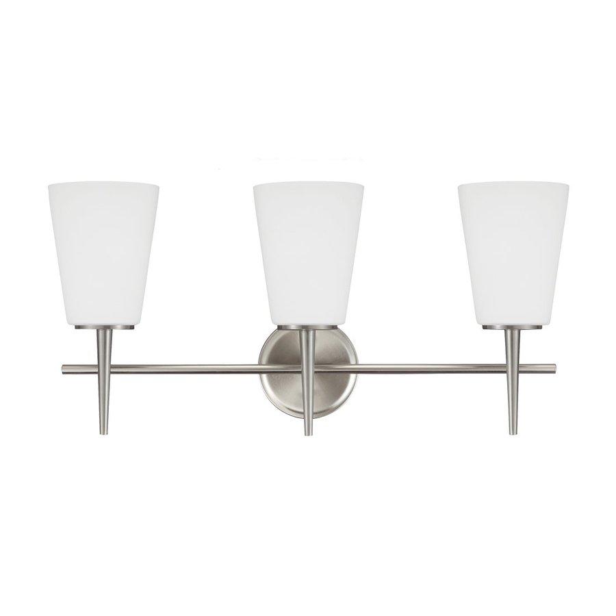 Sea Gull Lighting 3-Light Driscoll Brushed Nickel Bathroom Vanity Light