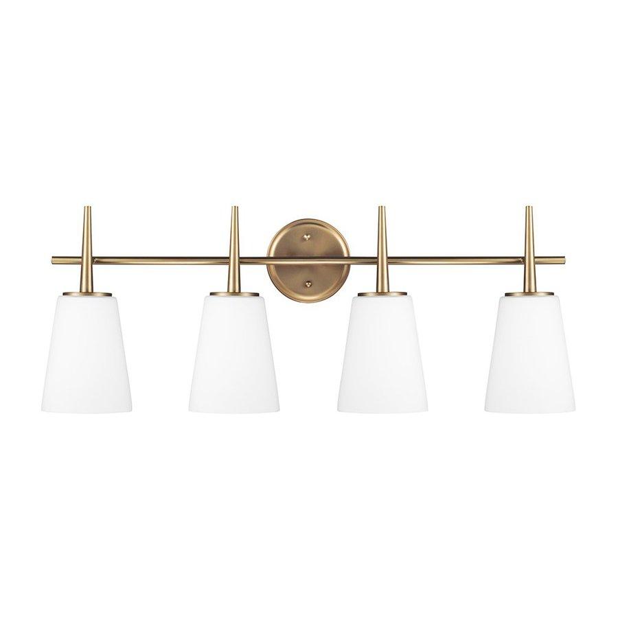 Sea Gull Lighting 4-Light Driscoll Satin Bronze Bathroom Vanity Light