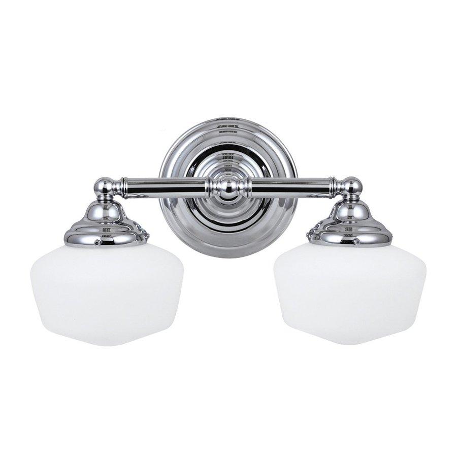 Sea Gull Lighting 2-Light Academy Chrome Bathroom Vanity Light