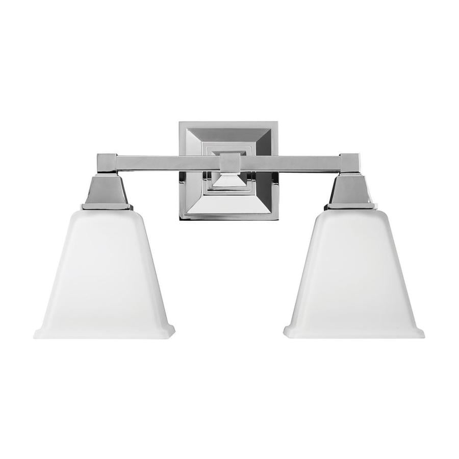 Sea Gull Lighting 2-Light Denhelm Chrome Bathroom Vanity Light