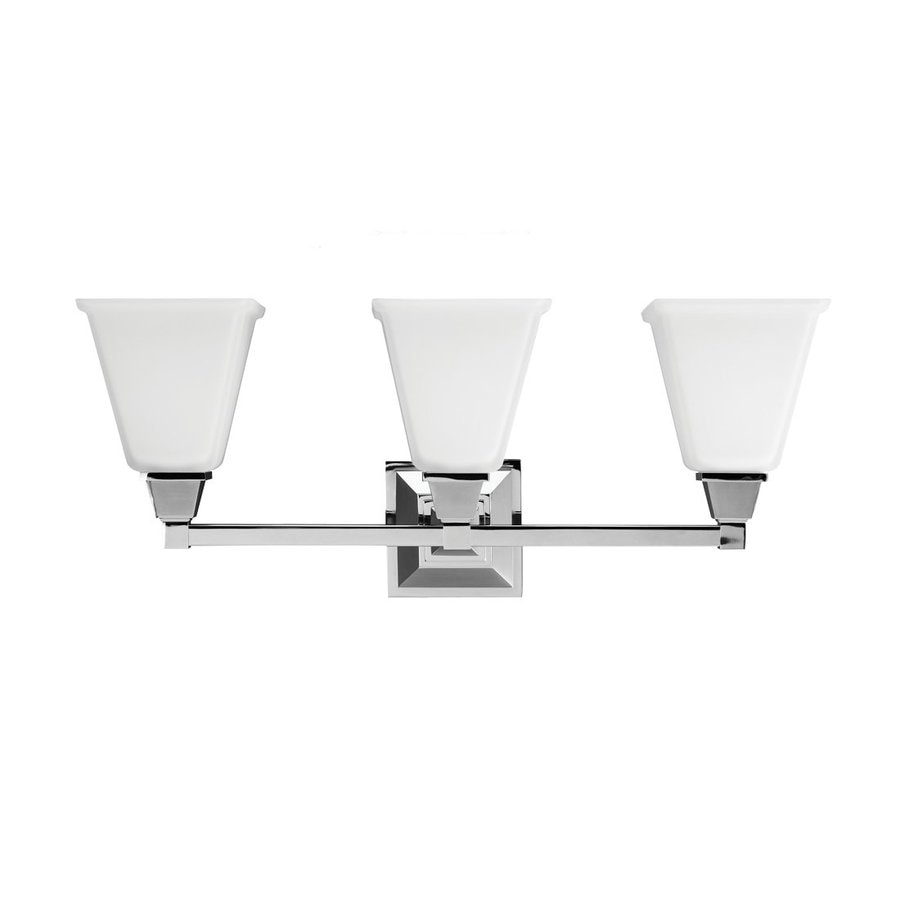 Sea Gull Lighting 3-Light Denhelm Chrome Bathroom Vanity Light