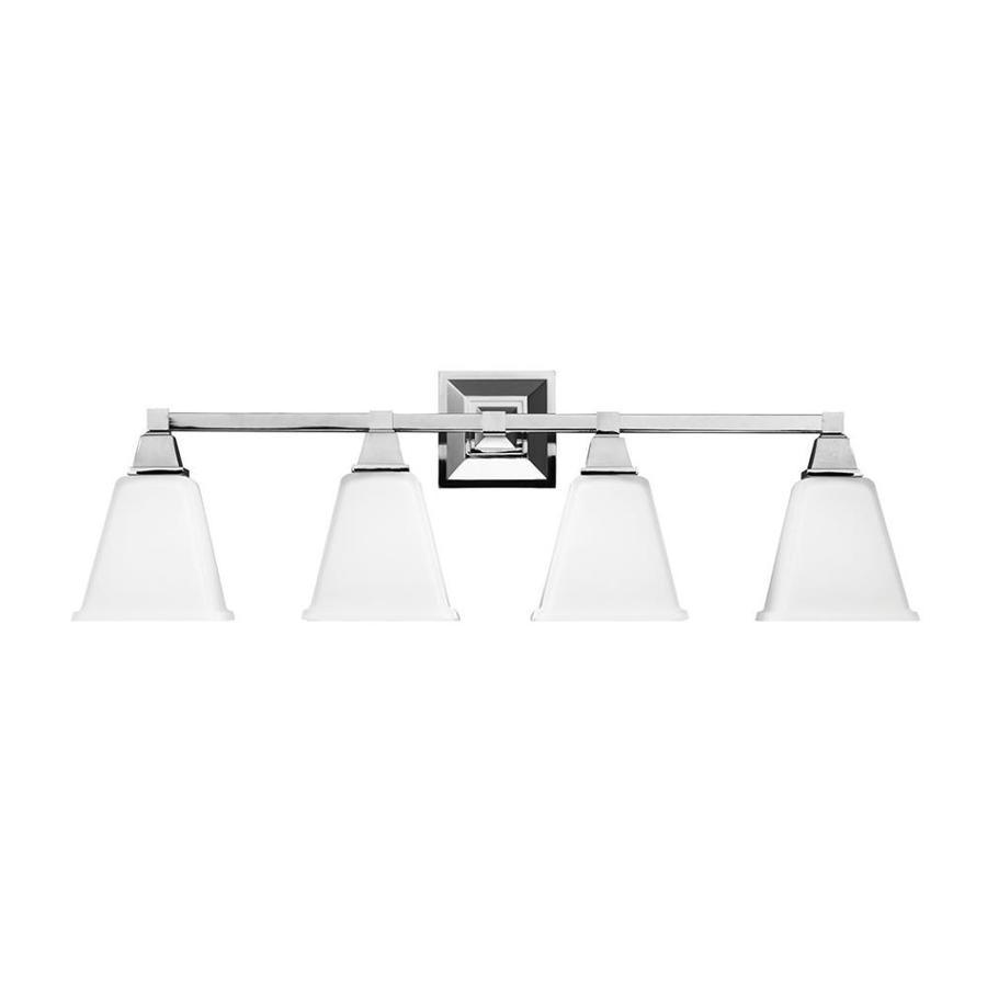 Sea Gull Lighting 4-Light Denhelm Chrome Bathroom Vanity Light