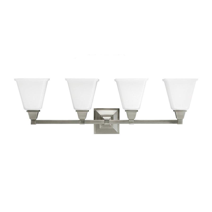 Sea Gull Lighting 4-Light Denhelm Brushed Nickel Bathroom Vanity Light