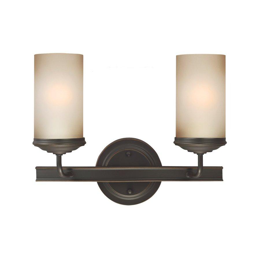 Sea Gull Lighting 2-Light Sfera Autumn Bronze Bathroom Vanity Light