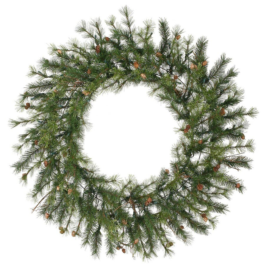 Vickerman 60-in Indoor/Outdoor Pine Artificial Christmas Wreath