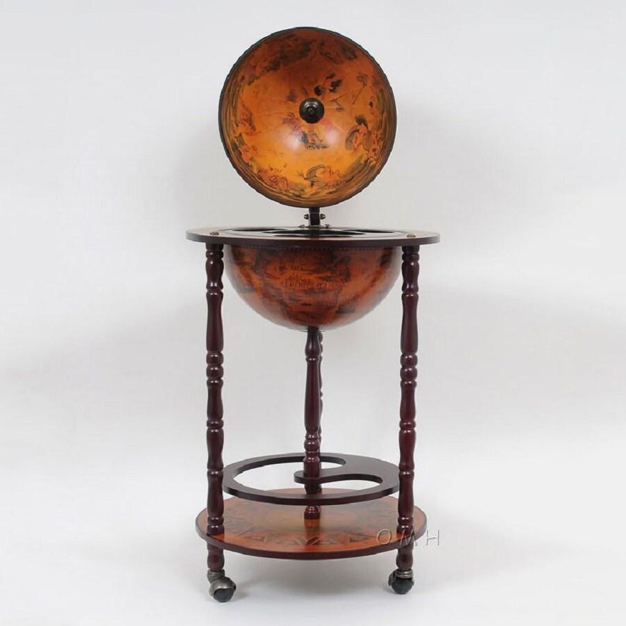 Old Modern Handicrafts 17-in x 35-in Round Cart Bar