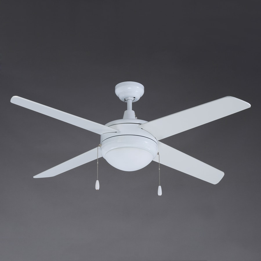 Royal Pacific Europa 50-in White Downrod Mount Indoor Ceiling Fan with Light Kit (4-Blade) ENERGY STAR