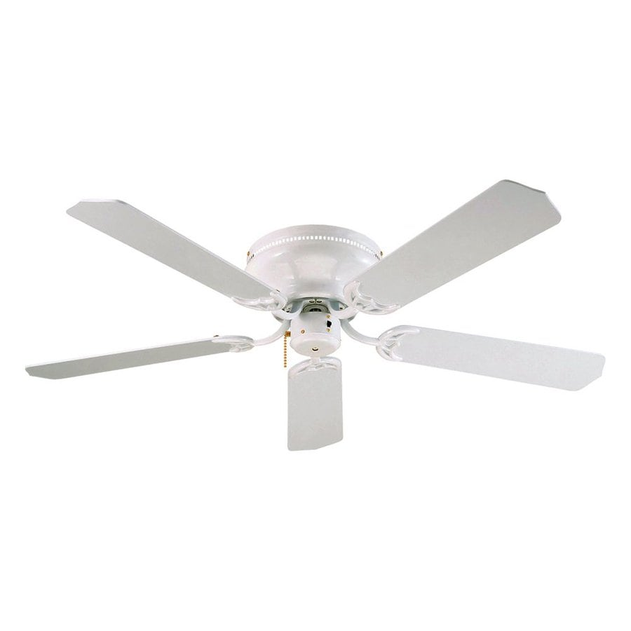 Shop royal pacific royal knight 52 in white flush mount for White flush mount ceiling fan