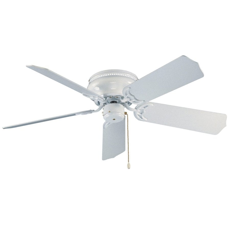 ... 42-in White Flush Mount Indoor Ceiling Fan (5-Blade) at Lowes.com