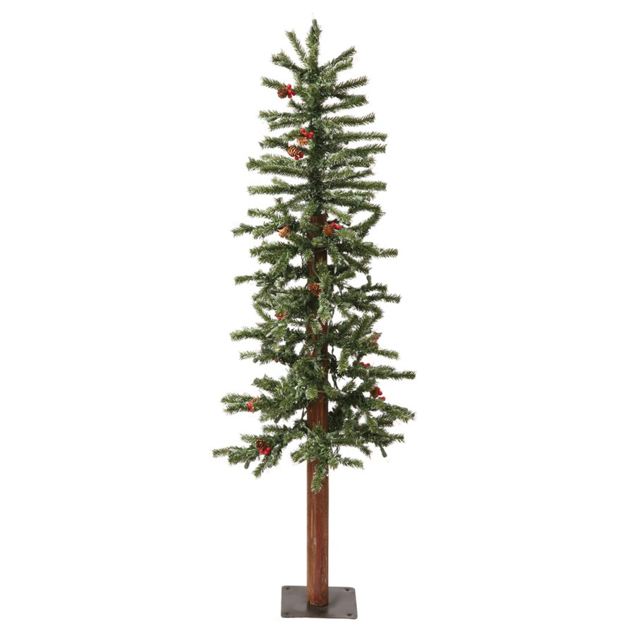 Vickerman 2-ft Pre-Lit Winterberry Slim Artificial Christmas Tree with White Clear Incandescent Lights