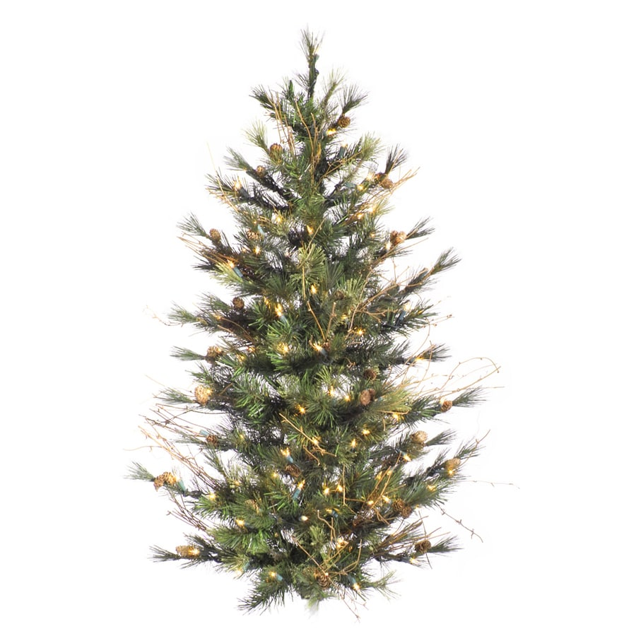 Vickerman 4-ft Mixed Country Pine Wall Artificial Christmas Tree