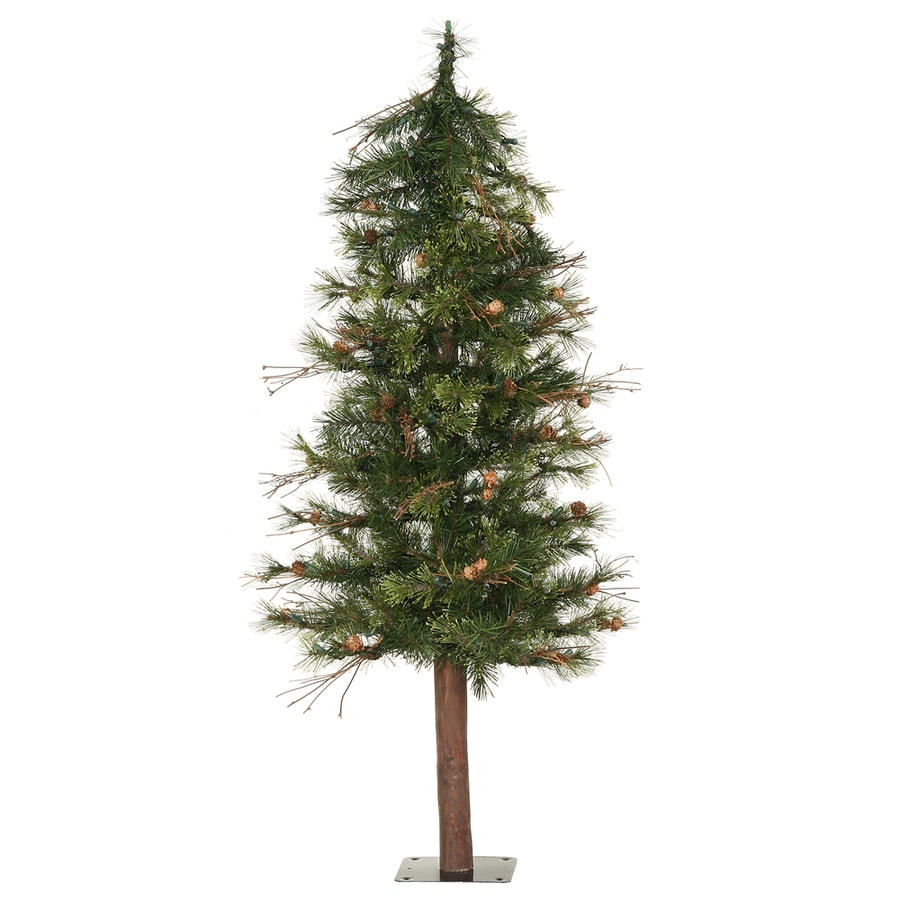 shop vickerman 4 ft mixed country alpine slim artificial