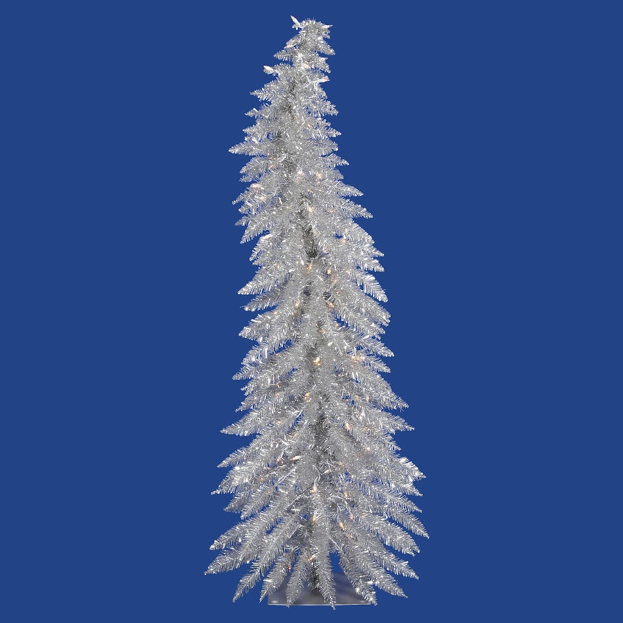 Vickerman 2.5-ft Pre-Lit Whimsical Slim Artificial Christmas Tree with White Clear Incandescent Lights